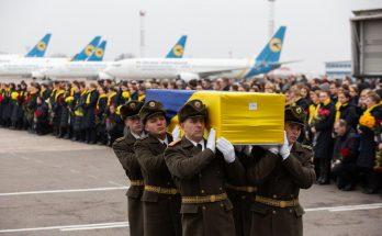 привезли тела погибших украинцев