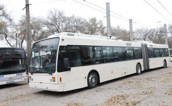 три новых троллейбуса в запорожье