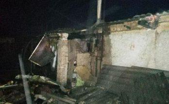 жилой дом сгорел