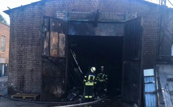пожар в Запорожье
