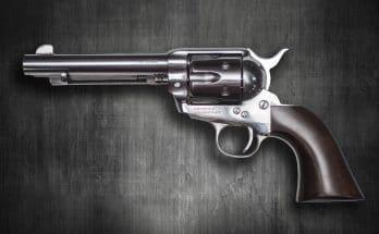 выстрелил из револьвера