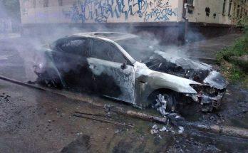 загорелось авто