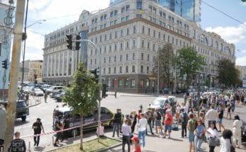 захватил банк в Киеве