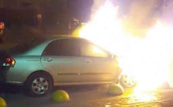 подожгли авто