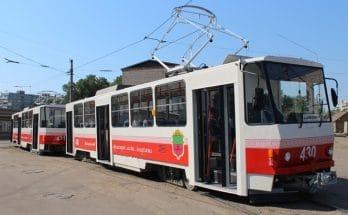 три трамвайных маршрута