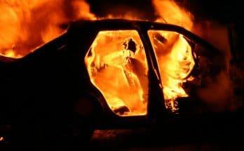 Запорожье пожар Mercedes